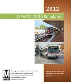 Development of CADD Standards for all divisions of WMATA